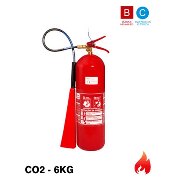 504f75b5f94d7 Extintor de Incêndio Gás Carbônico CO²- 6kg (Portátil)